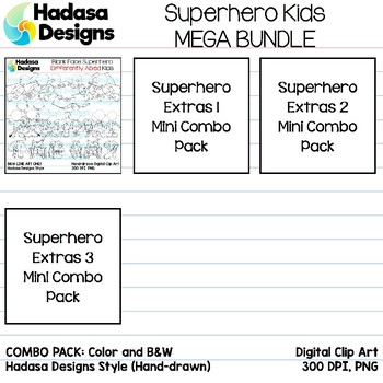 Hadasa Designs: Superhero Clip Art - MEGA BUNDLE