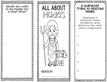 Hades - Greek Mythology Biography Research Project - Interactive Notebook