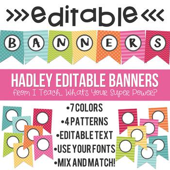 Editable Banners Hadley