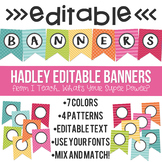 Hadley Editable Banners