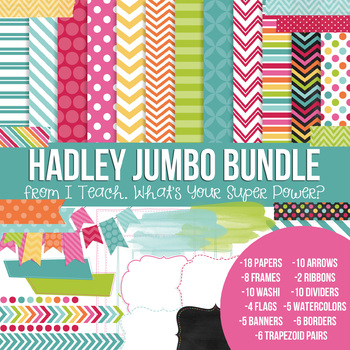 Digital Papers and Frames Hadley Jumbo Set