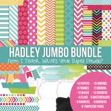 Digital Papers and Frames Hadley Jumbo Set
