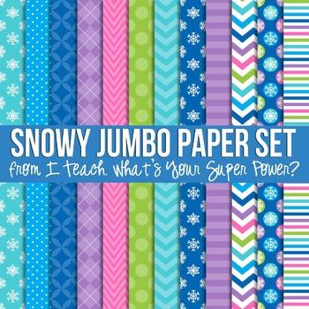 Snowy Jumbo Set Digital Papers