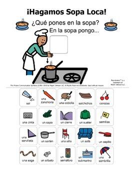 """Hagamos Sopa Loca"" Spanish /s/ Carry-Over Articulation Activity"