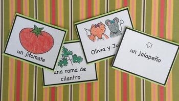 ¡Hagamos salsa! Card Game + Minibook Activity Pack Spanish Printable Resources