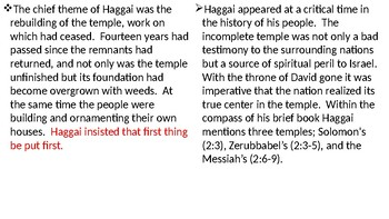 Haggai Power Point Notes