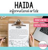Haida: Aboriginal Cultures Informational Article