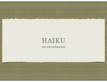 Haiku: An Introduction