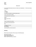 Haiku: Assignment Sheet