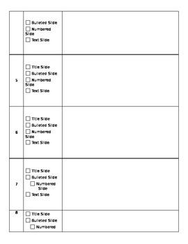 Haiku Deck Planning Page