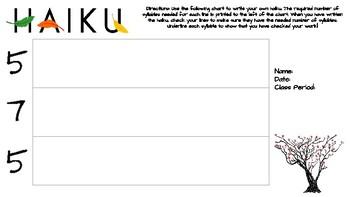 Haiku Graphic Organizer