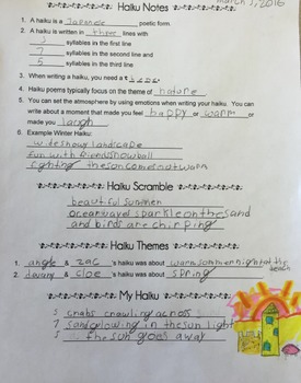 Haiku Collaborative Lesson