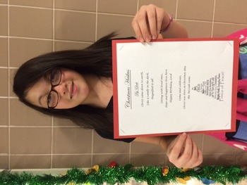 Haiku Middle School Poetry Writing; Winter; Holidays; Christmas; PRINTABLE