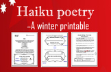 Haiku Middle School Poetry Writing; Winter; Holidays; Chri