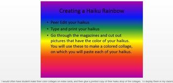 Haiku Minilessons - Create a Haiku Rainbow
