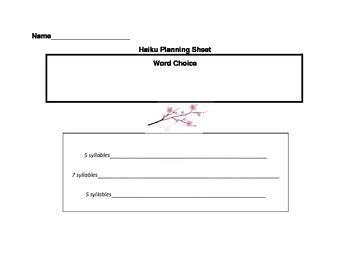 Haiku Planning Sheet