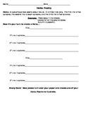 Haiku Poem Handout Template