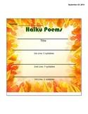 Haiku Poem Template!