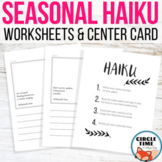 Haiku Poems for Handwriting Copy Work, Four Seasons Worksheets