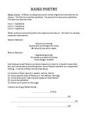 HAIKU POETRY (GRADES 3 - 5)