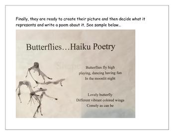 Haiku Poetry Inspired by Blow Painting