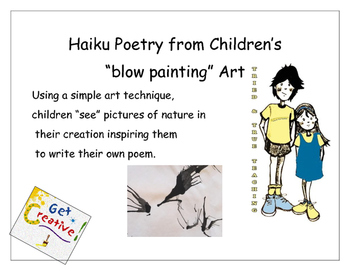 Haiku Poetry Inspired by Blow Painting