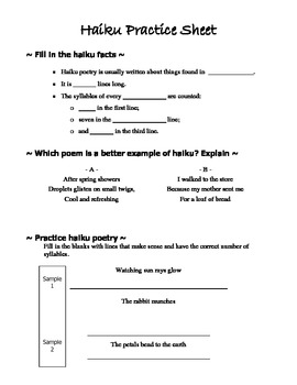 Haiku Poetry Instruction and Practice