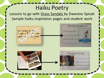 Haiku Poetry Instruction using Grass Sandals by Dawnine Spivak