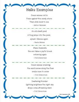 Haiku Poetry Mini Unit