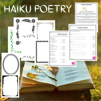Haiku Poetry Worksheets and Templates