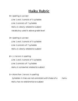 Haiku Rubric