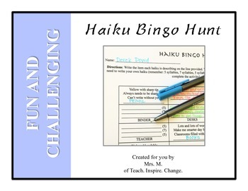 Haiku Bingo Hunt