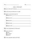 Haiku Student Checklist