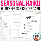 Haiku Worksheets - 10 Seasonal Haiku Worksheets for Center