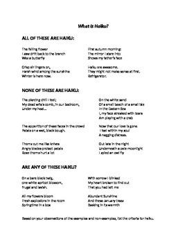 Haiku You! Learning Haiku with Critical Thinking