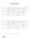 Haiku evaluation and scoring rubric