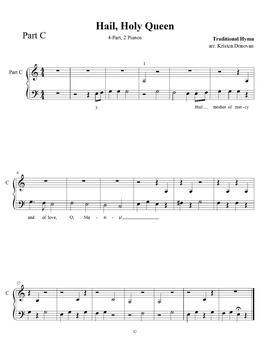 Hail, Holy Queen Play Any Way Piano Ensemble