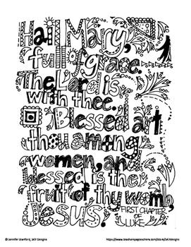 Hail Mary Doodle Verse