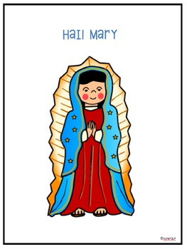 Hail Mary Interactive Book & Cut n Paste