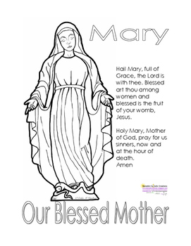 catholic coloring pages hail mary - photo#5