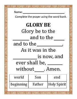 Fill-In the Blank Prayers