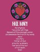 Hail Mary Poster & Prayer Cards