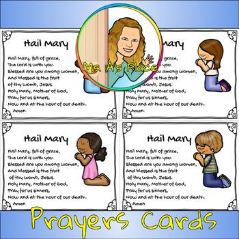 Hail Mary Prayer Card 2