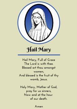 Hail Mary - Prayer Card/ Poster