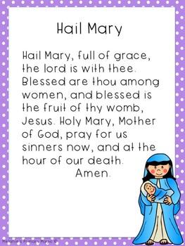Hail Mary Prayer Packet