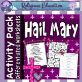 Hail Mary - Prayer Posters, Worksheets, Interactive Activities