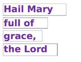 Hail Mary Puzzle
