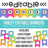 Editable Banners Hailey