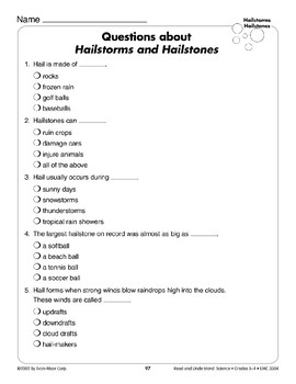 Hailstorms and Hailstones (Earth & Space Science/Weather)