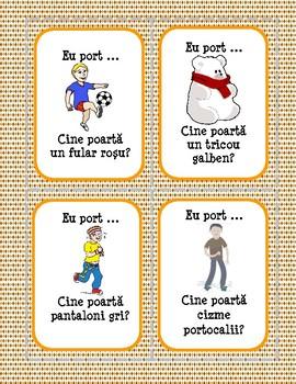 Haine - Cine poartă? - Joc de cărți (Romanian)